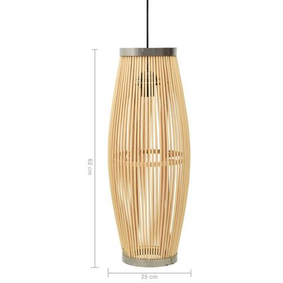 vidaXL Pendant Lamp Willow 40 W 25x62 cm Oval E27