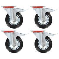vidaXL 8 pcs Swivel Casters 160 mm