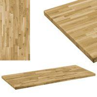 vidaXL Table Top Solid Oak Wood Rectangular 44 mm 140x60 cm
