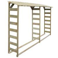 vidaXL Double Firewood Storage Shed 300x44x176 cm Impregnated Pinewood