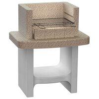 vidaXL Concrete Charcoal BBQ Stand with Shelf