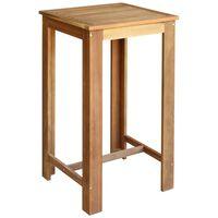 vidaXL Bar Table Solid Acacia Wood 60x60x105 cm