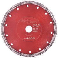 vidaXL Diamond Cutting Disc with Holes Steel 180 mm