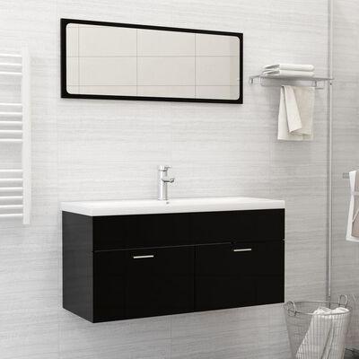 vidaXL Built-in Basin with Faucet 101x39x18 cm Ceramic White