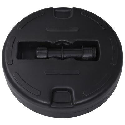 vidaXL Umbrella Base Sand/Water Filled 24 L Black