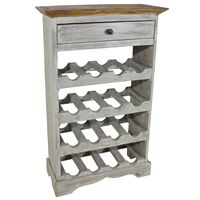 vidaXL Wine Rack Solid Reclaimed Wood 55x23x85 cm