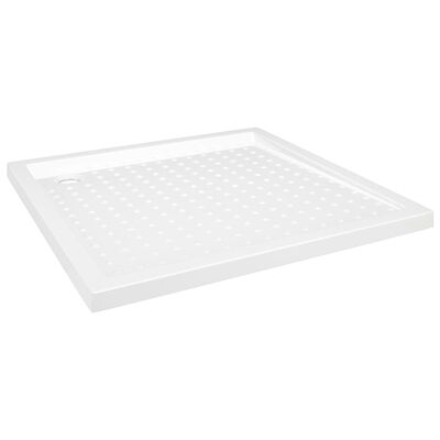 vidaXL Shower Base Tray with Dots White 90x90x4 cm ABS