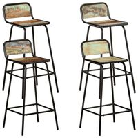 vidaXL Bar Chairs 4 pcs Solid Reclaimed Wood