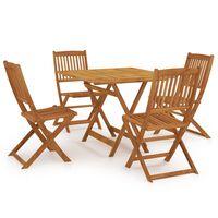 vidaXL 5 Piece Folding Garden Dining Set Solid Acacia Wood
