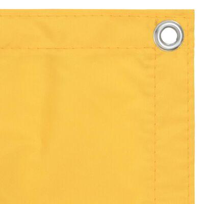 vidaXL Balcony Screen Yellow 90x300 cm Oxford Fabric