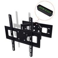 """vidaXL Double-armed Tilt & Swivel Wall Mounted TV Bracket 3D 400x400mm 32""""-55"""""""
