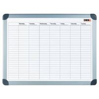 DESQ Magnetic Week Planner 60x90 cm White