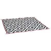 Bo-Camp Outdoor Rug Chill mat Picnic 2x1.8 m Black and White