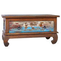 vidaXL Coffee Table 80x50x40 cm Reclaimed Teak Wood