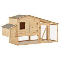 vidaXL Chicken Cage Solid Pine Wood 178x67x92 cm
