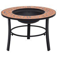 vidaXl Mosaic Fire Pit Terracotta 68cm Ceramic