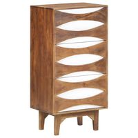 vidaXL Chest of Drawers 44x35x90 cm Solid Acacia Wood