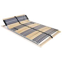 vidaXL Slatted Bed Base with 42 Slats 7 Zones 120x200 cm
