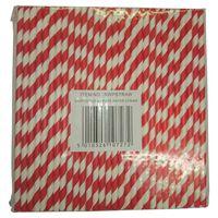 Swantex Red & White Paper Straws - 1 x 250