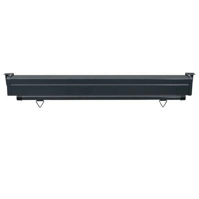 vidaXL Balcony Side Awning 140x250 cm Black