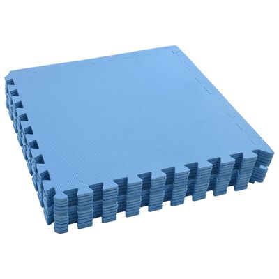 vidaXL Floor Mats 12 pcs 4.32 ㎡ EVA Foam Blue