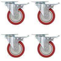 vidaXL 16 pcs Swivel Casters 100 mm