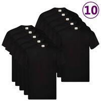 Fruit of the Loom Original T-shirts 10 pcs Black M Cotton