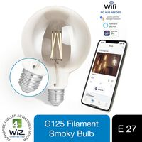 4lite Wiz Connected G125 Filament Bulb Smoky E27 Wifi, 1 Pack