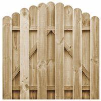 vidaXL Garden Gate Impregnated Pinewood 100x100 cm