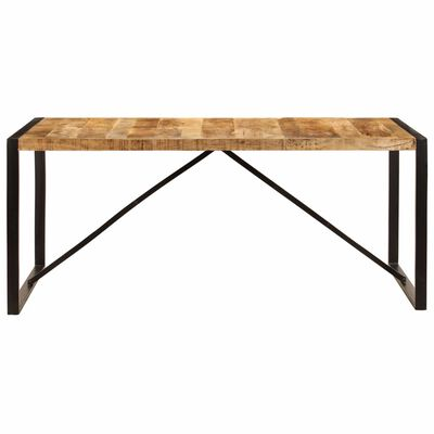 vidaXL Dining Table Solid Rough Mango Wood 180 cm