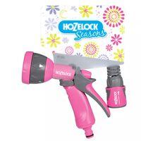 Hozelock Seasons Multi Spray Gun Set Pink 2676 6720