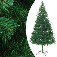 vidaXL Artificial Christmas Tree with Steel Stand 210 cm 910 Branches