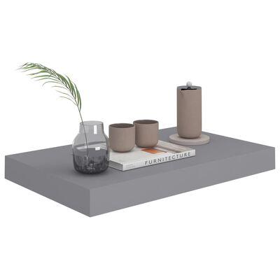 vidaXL Floating Wall Shelf Grey 40x23x3.8 cm MDF