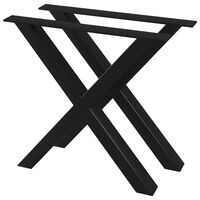 vidaXL Dining Table Legs 2 pcs X-Frame 80x72 cm