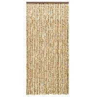 vidaXL Insect Curtain Beige and Brown 90x220 cm Chenille