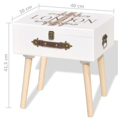 vidaXL Bedside Cabinets 2 pcs 40x30x41.5 cm White