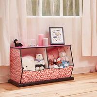 Teamson Kids Children Pink Wooden Storage Drawers Toy Box Storage TD-1