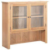 vidaXL Desk Hutch 110x33.5x105 cm Solid Oak Wood