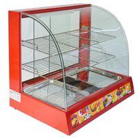 KuKoo Food Warmer Electric Wide Glass Showcase Cabinet 60cm