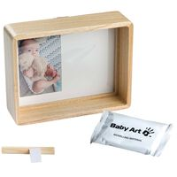 Baby Art Print Frame Wood Natural