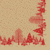 Swantex Winters Tale Christmas Napkins 2 Ply 33cm - 10x100