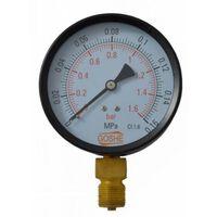 """4 Bar Manometer Pressure Gauge Side Entry M20x1,5 1/2"""" Reduction 100mm"""