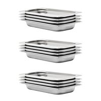 vidaXL Gastronorm Containers 12 pcs GN 1/3 40 mm Stainless Steel