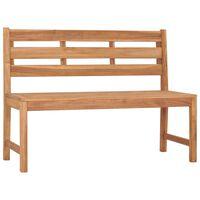 vidaXL Garden Bench 120 cm Solid Teak Wood