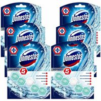 Domestos Power 5 With Bleach Toilet Rim Block 55g Pack Of 6