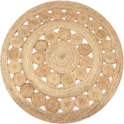 vidaXL Area Rug Braided Design Jute 150 cm Round