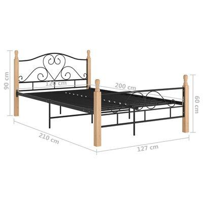 vidaXL Bed Frame Black Metal 120x200 cm