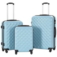 vidaXL Hardcase Trolley Set 3 pcs Blue ABS