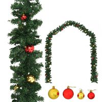 vidaXL Christmas Garland Decorated with Baubles 5 m