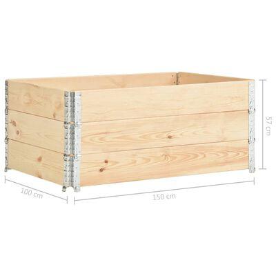 vidaXL Raised Beds 3 pcs 100x150 cm Solid Pine Wood (310059)